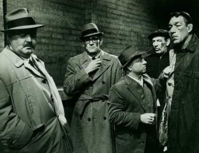 """W 1962 """"Requiem for a Heavyweight"""" doczekało się remake'u, z gwiazdorską obsadą - w rolę """"Góry"""" wcielił się Anthony Quinn, partnerował mu Mickey Rooney."""