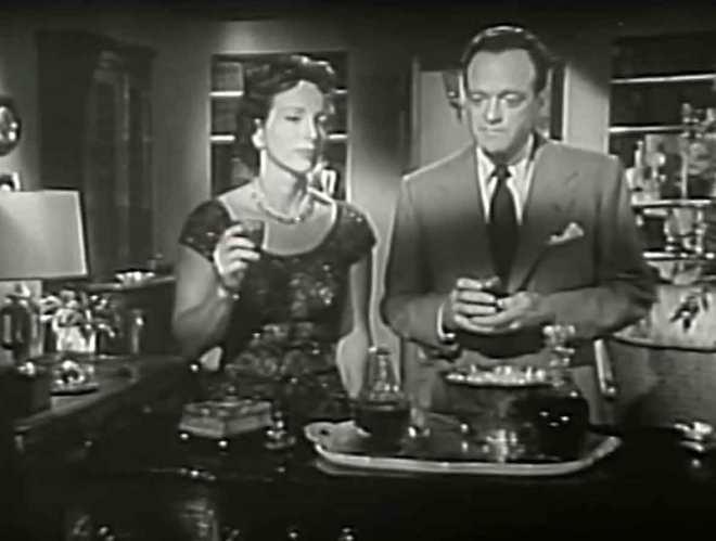 Miotany wątpliwościami Fred Staples (Van Heflin) z małżonką Nancy (Beatrice Straight) argumentującą za porzuceniem moralnych rozterek na rzecz ambicji.