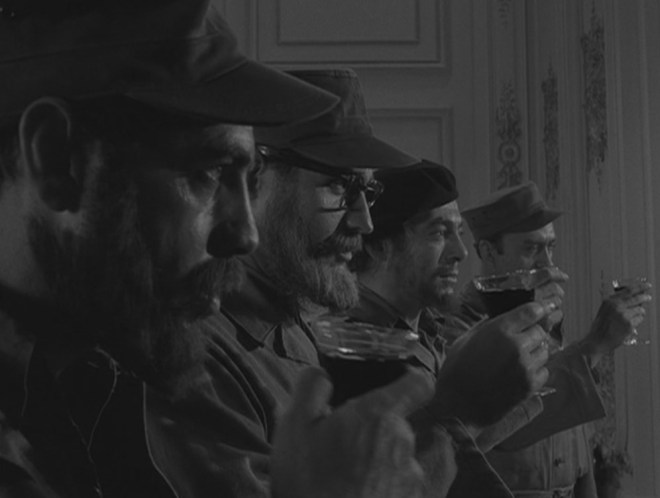 """""""I'm going to make a toast to you. I'm going to toast my friends. To Cristo, the bold one. To D'Alessandro, the dedicated one. To Tabal, the quiet one. To Garcia, the strong one. To the four lieutenants of the revolution. To the new heads of the government."""""""