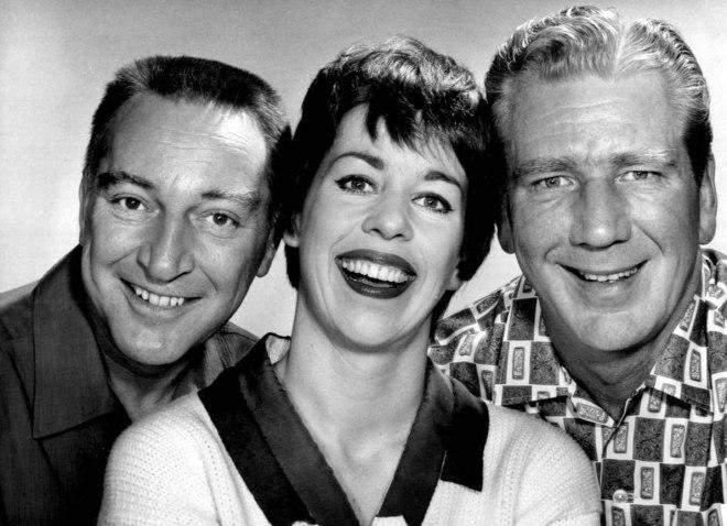 Garry Moore, Carol Burnett, and Durward Kirby, 1961