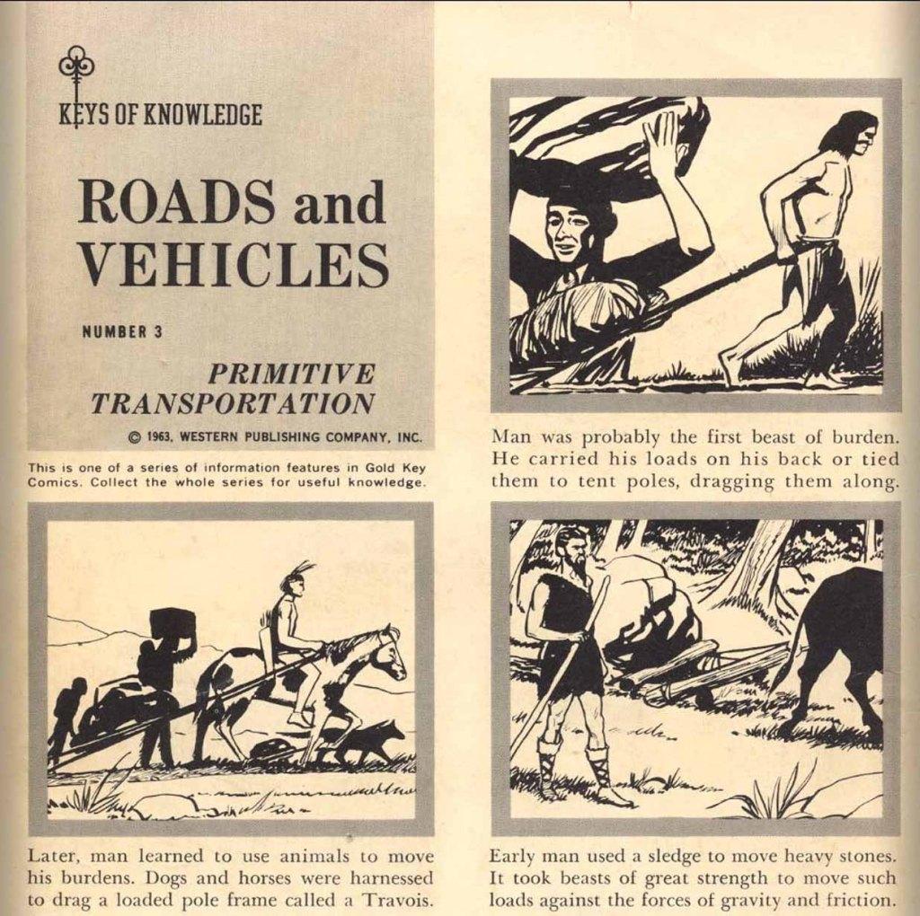 "Keys of Knowledge - ""Roads and Vehicles #3 - Primitive Transportation"""