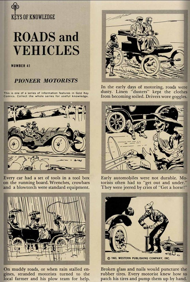 "Keys of Knowledge - ""Road and Vehicles #41: Pioneer Motorists"""