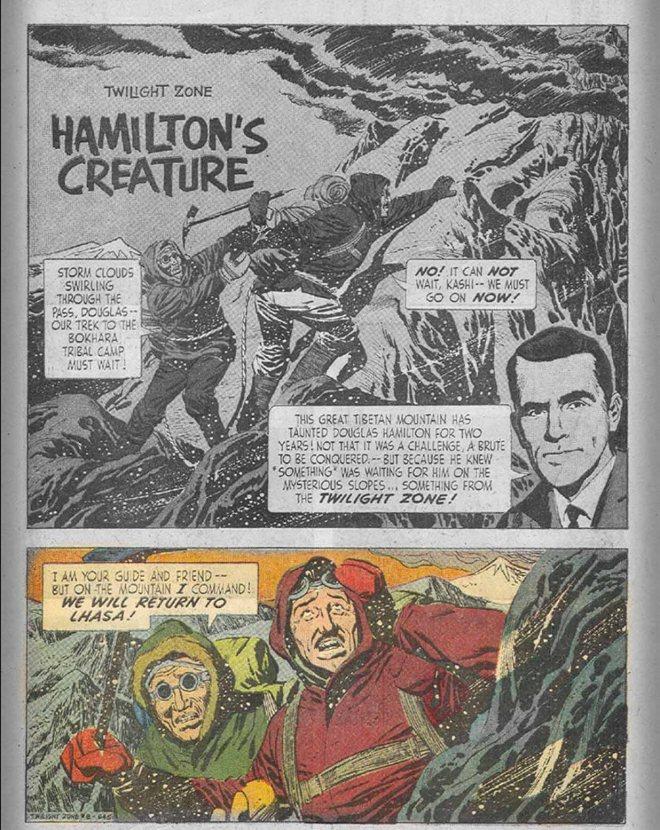 """Hamilton's Creature"", Fred Fredericks (szkice, tusz i liternictwo)"