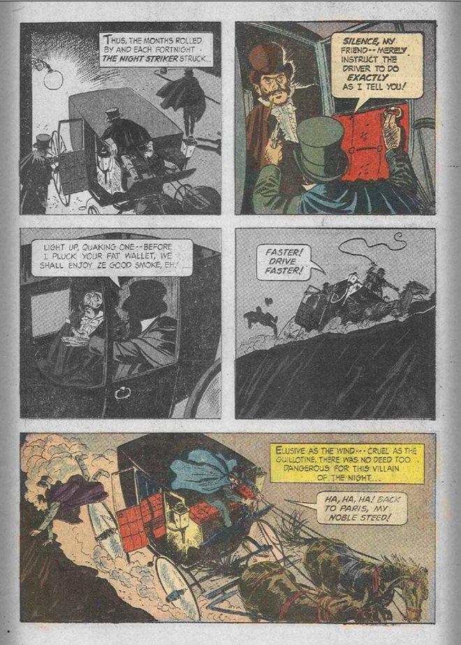 """The Night Striker of Paris"", Mel Crawford (szkice i tusz), Ben Oda (liternictwo)"